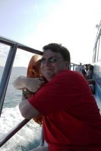 Bootsfahren und Tauchen: Claus genießt beides