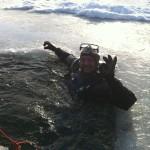 Auch im Eis vergeht Enzo nicht die gute Laune