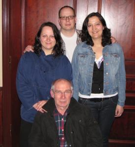 Der neue alte Vorstand: Melanie, Frank, Yvonne (stehend v. l. n. r.) und Claus (vorn)