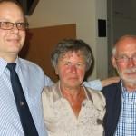 v.l. n.r. 1.Vors. Frank Werner, Ursula Zocher, sowie Claus Zocher zuletzt  ehemaliger 2.Vorsitzender von 2007-2013