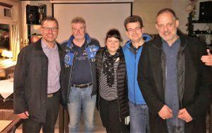 v.l.n.r.: Henry, Peter, Melli, Ralf und Enzo